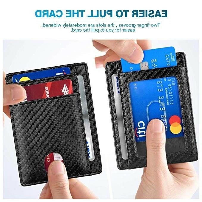 Slim Front RFID Blocking Wallets Wallet