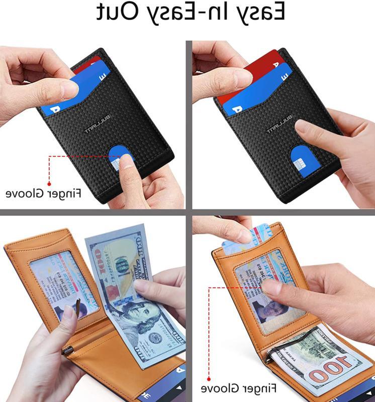 Slim Wallet Pocket,BULLIANT Money Wallet For Men 10