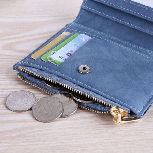 Small Women Zipper RFID Wallet Coin Pocket Purse Clutch Bag