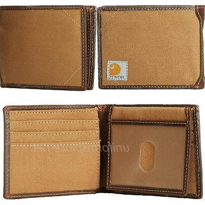 Carhartt Wallet Bifold Canvas/Leather Wallets Camo,