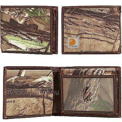 Carhartt Wallet Mens Passcase Bifold Canvas/Leather Camo, Colors