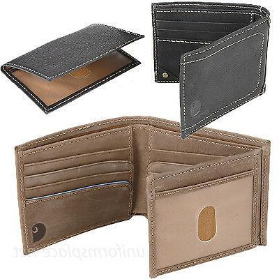 wallet mens pebble passcase genuine leather bifold