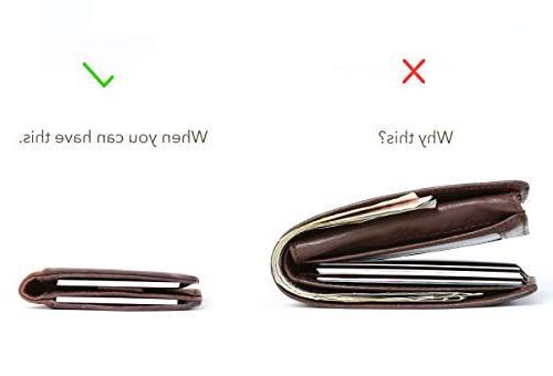 Wallets Mens RFID Minimalist Card Bifold Thin