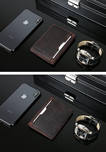 Wallets Mens leather Minimalist Pocket Bifold