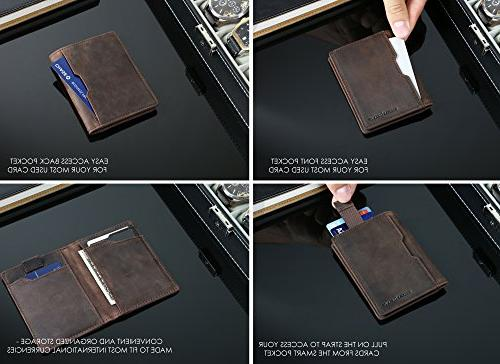 Wallets for Mens Minimalist Front Bifold Travel Thin