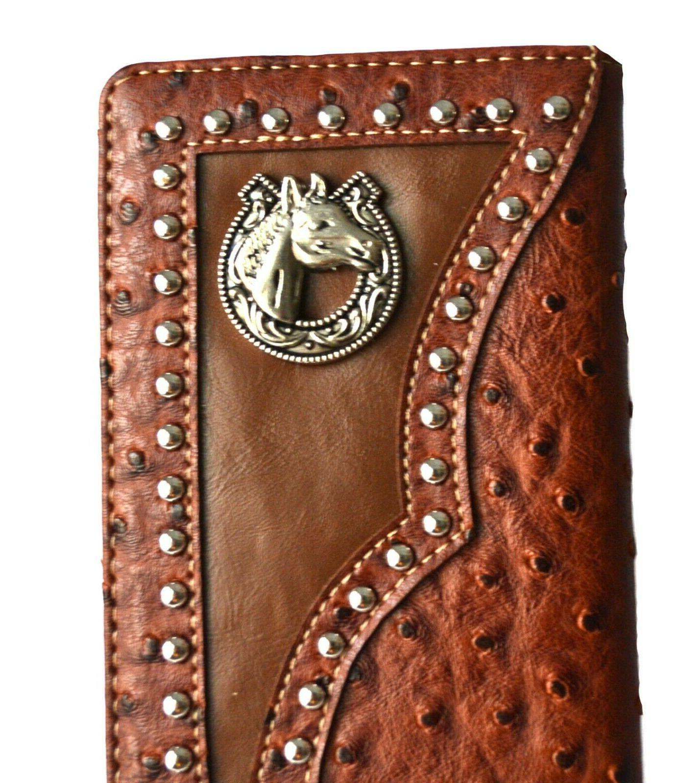 Western wallets for Horse Long Wallet Brown