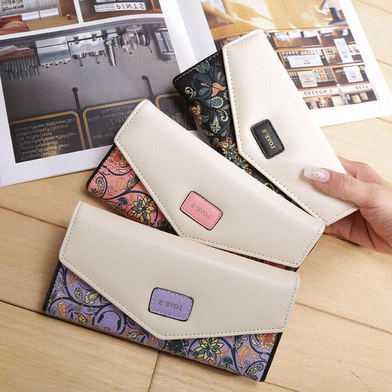 Fashion Women Leather Clutch Wallet Long