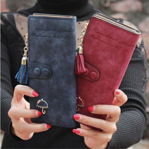 Lady Leather Wallet Purse Card Holder Handbag Stock