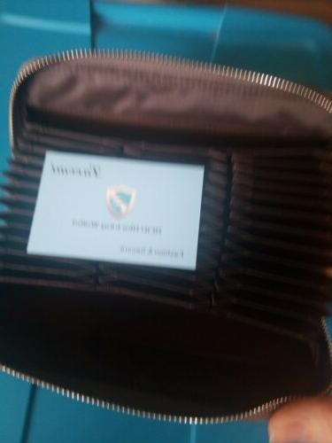 Lavemi Leather Zip Wallet Clutch