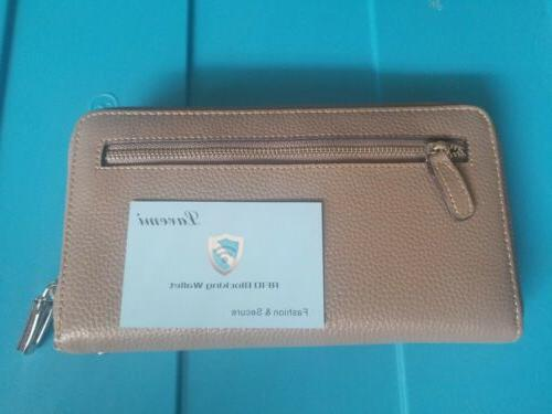 Lavemi Women's RFID Leather Wallet Travel Cards