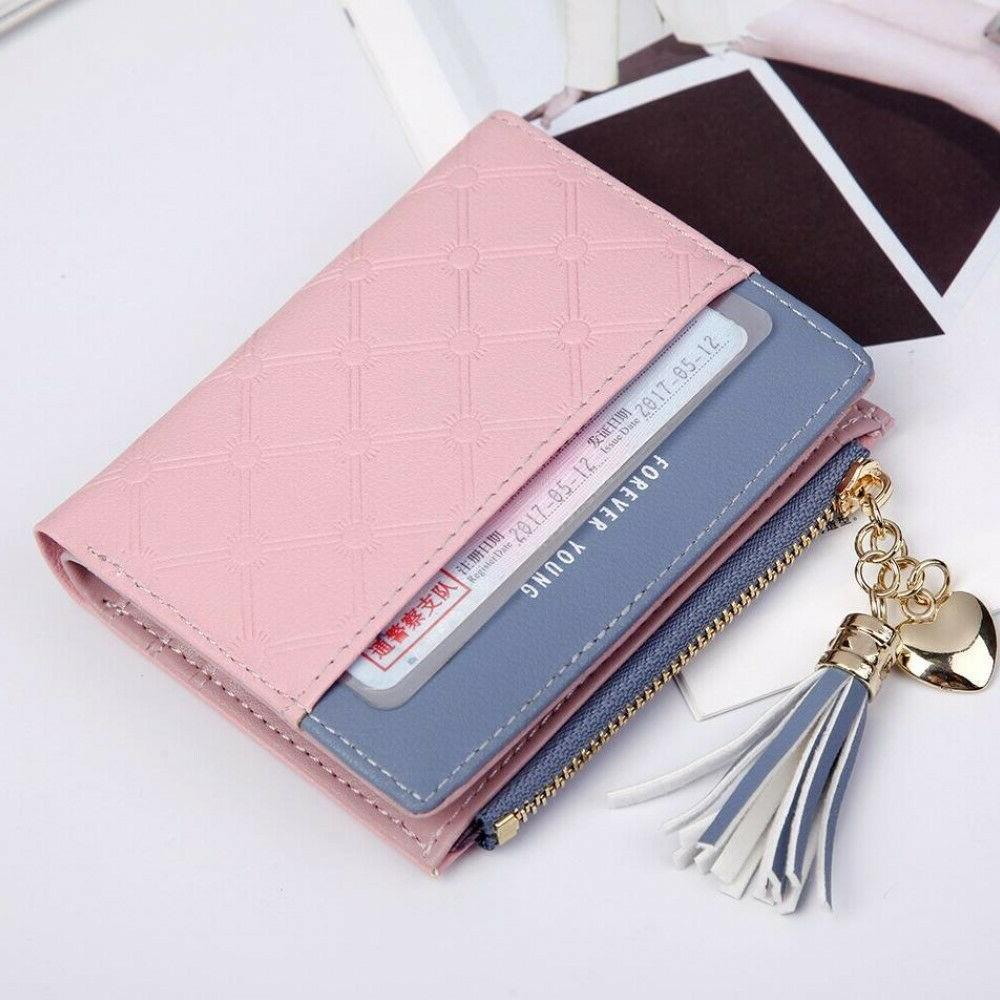 Women Short Bifold Wallet Mini Card US