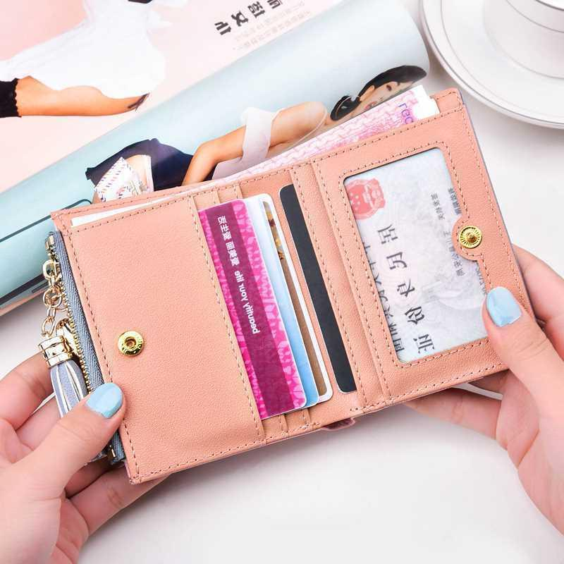 Women Short Wallets Bifold Pocket Wallet Mini Purse Card US