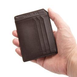 Leather Card Case Wallet Slim Super Thin Credit Card Holder