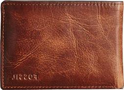 Men's Fossil 'Derrick' Leather Front Pocket Bifold Wallet -