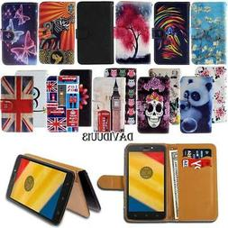 Leather Smart Stand Wallet Case Cover For Various Motorola M