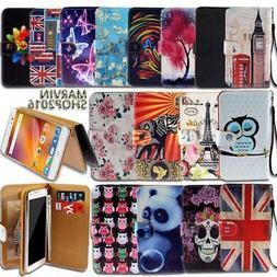 Leather Wallet Card Stand Flip Case Cover For ZTE Blade Smar