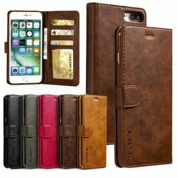 Leather Wallet Magnetic Flip Case Cover Stand For iPhone 6 7