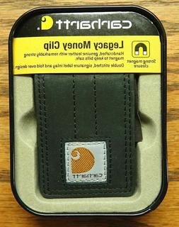 Carhartt Legacy Money Clip Rugged Black Leather Secure Magne