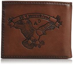 Levi's  Men's  Extra Capacity Slimfold Wallet,Brown Eagle