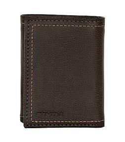 Levi's Mens Rfid Blocking Leather Trifold Wallet With Interi