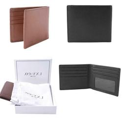 LXY & Co. Classic Natural Top Grain Leather RFID Blocking Me