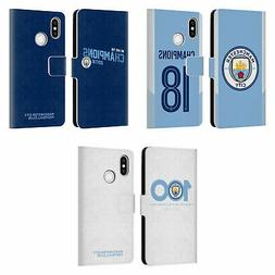 MAN CITY FC 2017/18 CHAMPIONS LEATHER BOOK WALLET CASE COVER
