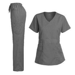 Dagacci Medical Uniform Women's Scrub Set Stretch and Soft Y
