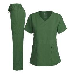 Dagacci Medical Uniform Women's Scrubs Set Stretch Ultra Sof