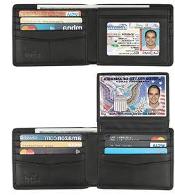 Men-Genuine Leather RFID Blocking Bifold Stylish Wallet With