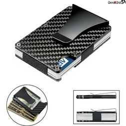 Men RFID Blocking Slim Money Clip Wallet Credit ID Card Hold