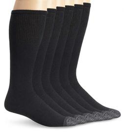 Fruit Of The Loom Men's 6 Pack Over the Calf Tube 10-13 Sock