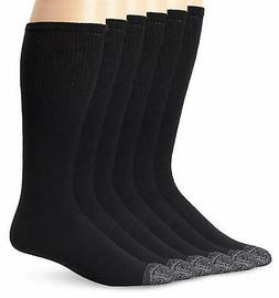 Fruit of the Loom Men's 6 Pack Over The Calf Tube Socks, - C