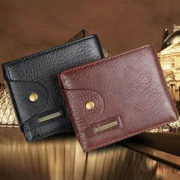 men s bifold leather credit id card