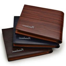 Men's Bifold Leather Credit ID Card Holder Wallet Billfold P