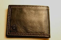 Columbia Men's Bifold Wallet 100% Genuine Cowhide Leather  B