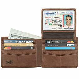 HIMI Men's Bifold Wallet Leather Soft, Stylish RFID Blocking