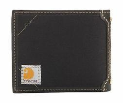 Carhartt Men's Canvas Passcase Wallet, Black, One Size
