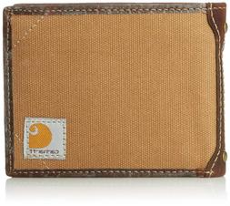 Carhartt Men's Canvas Wallet with Removable Passcase Duck Br