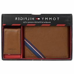 Tommy Hilfiger Men's Double Bi Fold Wallet & Money Clip Gift