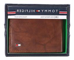 Tommy Hilfiger Men's Extra Capacity RFID Leather Traveler Wa