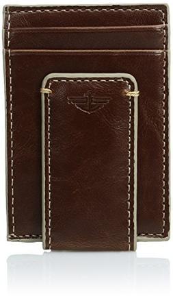 Dockers  Men's  Front Pocket Wallet with Money Clip,Tan