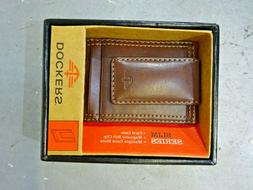 Dockers Men's Glazed Rustler Magnetic Money Clip Wallet, Bro