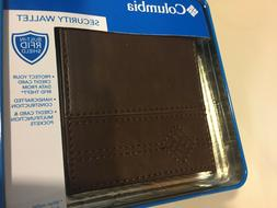 Columbia Wallet Men's Leather Bi-Fold RFID Security Shield B