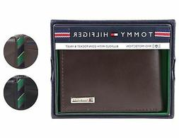 Tommy Hilfiger Men's Leather Credit Card Id Billfold Coin Rf
