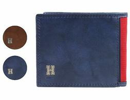 Tommy Hilfiger Men's Leather Credit Card Id Traveler Rfid Wa