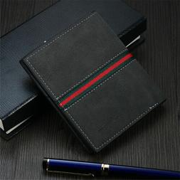 Men Leather Rfid Blocking Bifold Wallet Fashion Design Credi