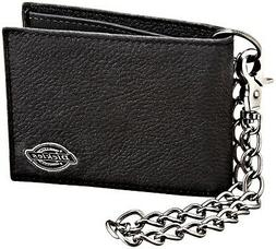 men s leather slimfold wallet with chain
