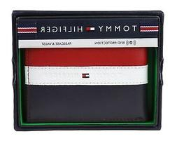 Tommy Hilfiger Men's Leather Wallet Passcase Billfold Rfid R