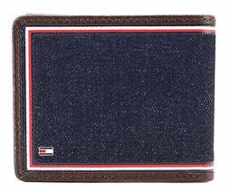 Tommy Hilfiger Men's Leather Wallet Passcase Billfold Rfid B