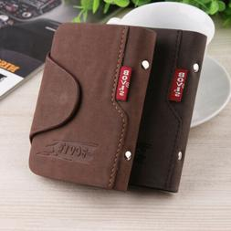 Men's Luxury Soft Leather Business ID Credit Card Holder Fel